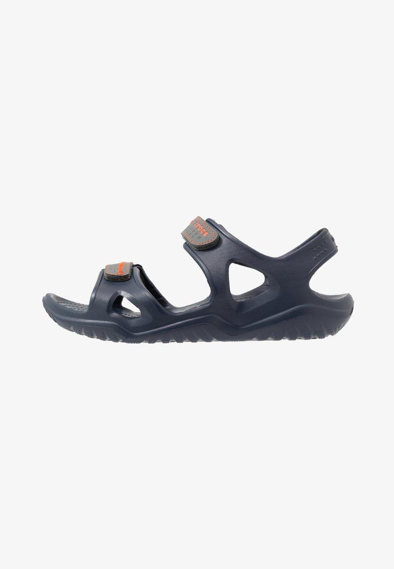 Crocs - SWIFTWATER - Sandały kąpielowe - navy/slate grey