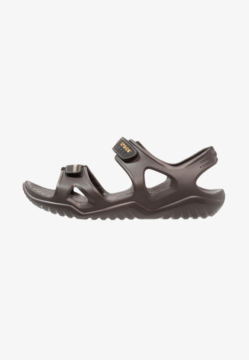 Crocs - SWIFTWATER RIVER  - Badesandaler - espresso/black