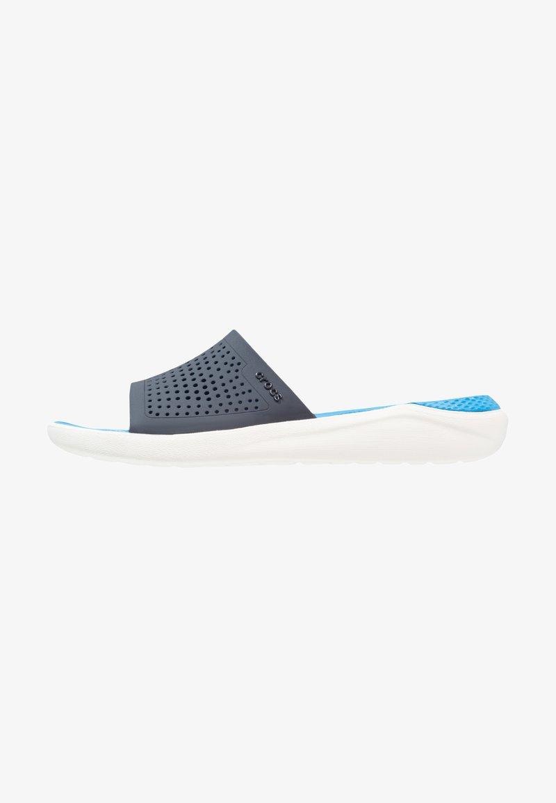 Crocs - LITERIDE SLIDE - Badesandale - navy/white