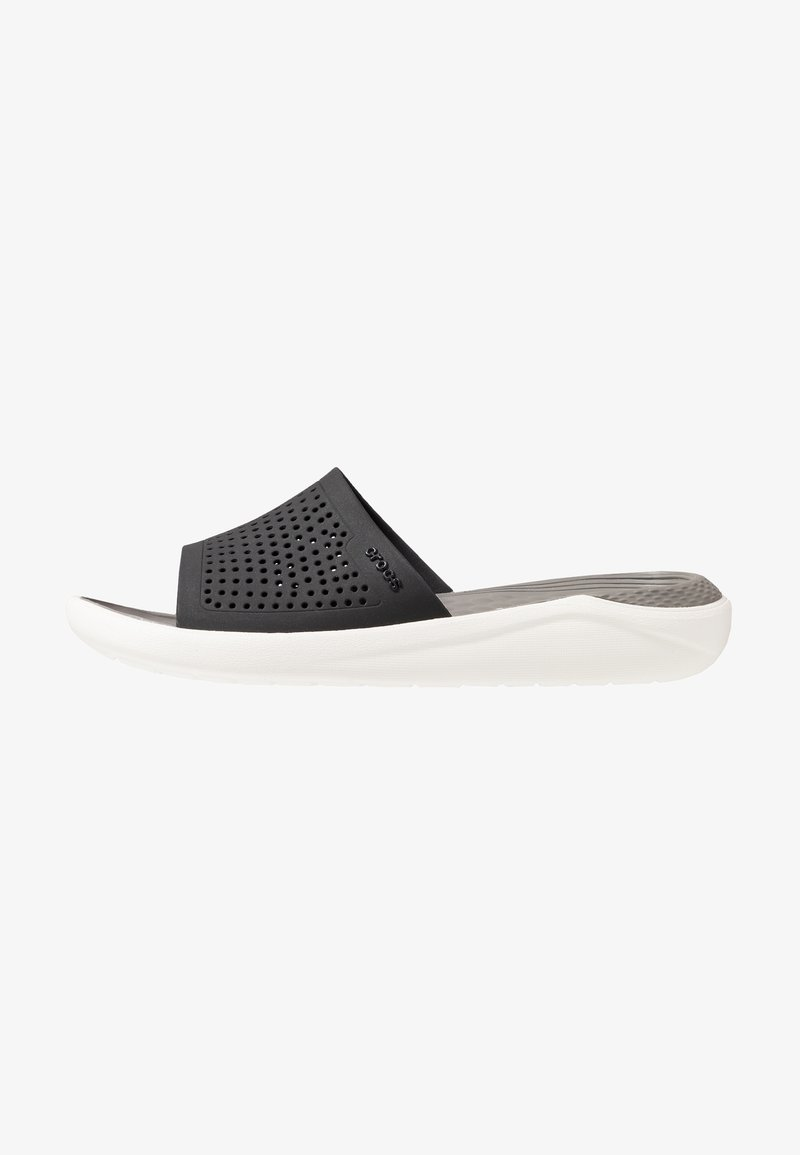 Crocs - LITERIDE SLIDE - Pool slides - black/smoke