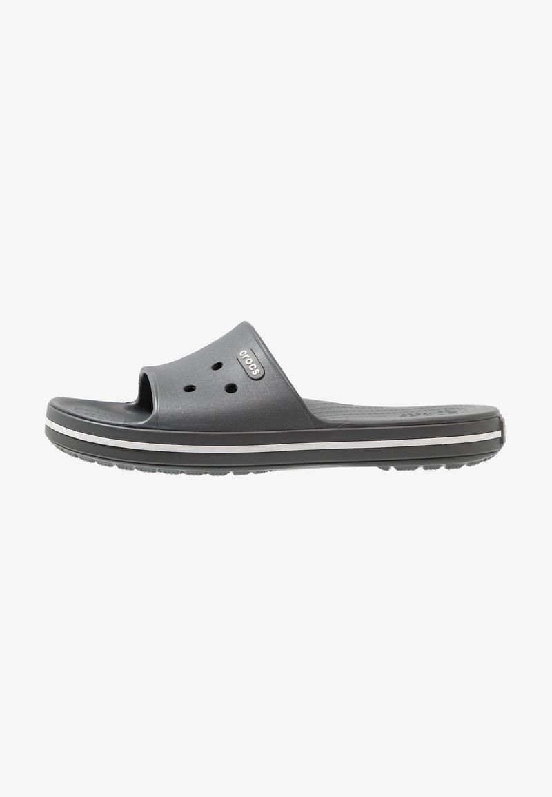 Crocs - SLIDE - Chanclas de baño - slate grey/white