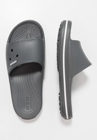 Crocs - SLIDE - Chanclas de baño - slate grey/white - 1