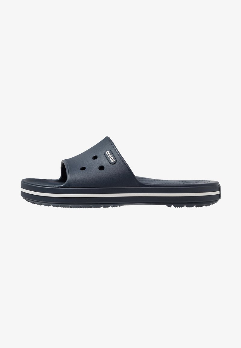 Crocs - SLIDE - Chanclas de baño - navy/white