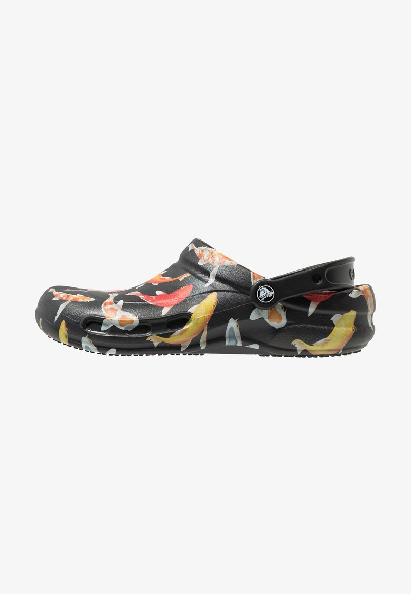 Crocs - BISTRO GRAPHIC - Clogs - black/tangerine