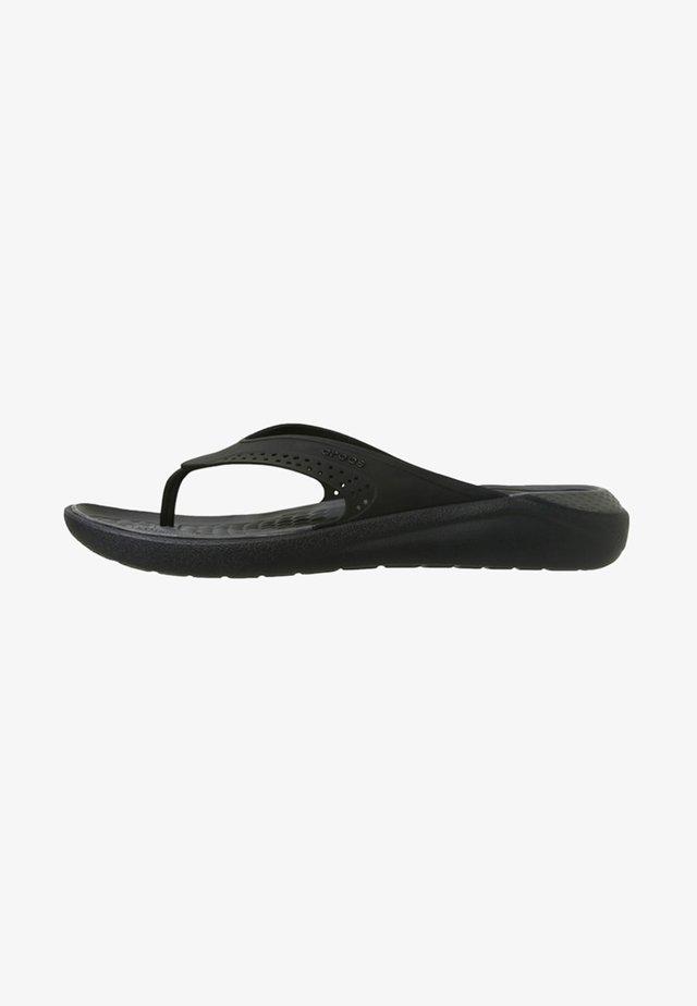 CROCS LITERIDE - Rantasandaalit - black/slate grey