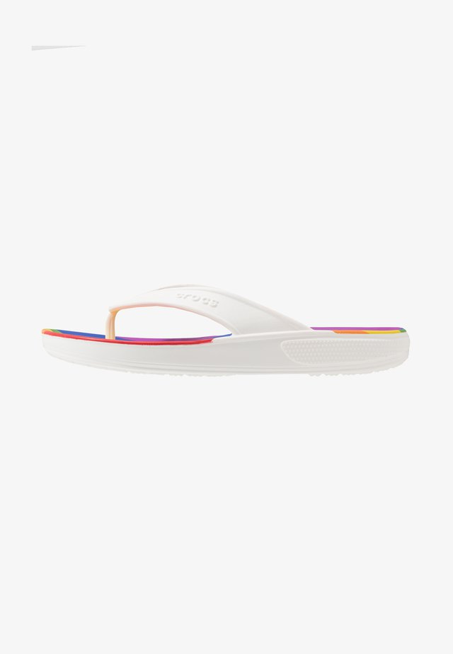 CLASSIC II RAINBOW STRIPE FLIP - Sandalias de dedo - rainbow