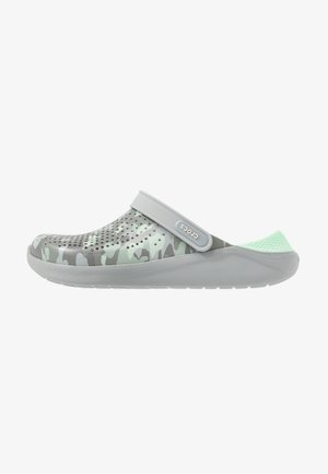 LITERIDE PRINTED - Zuecos - neo mint/light grey