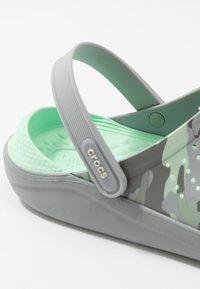 Crocs - LITERIDE PRINTED - Clogs - neo mint/light grey - 5