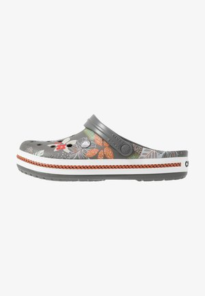 CROCBAND BOTANICAL PRINT - Clogs - slate grey/white