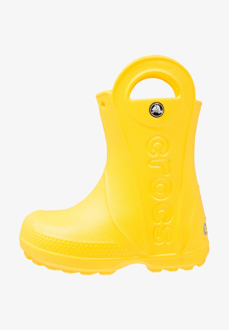 Crocs - HANDLE IT RAIN BOOT KIDS - Gummistiefel - yellow