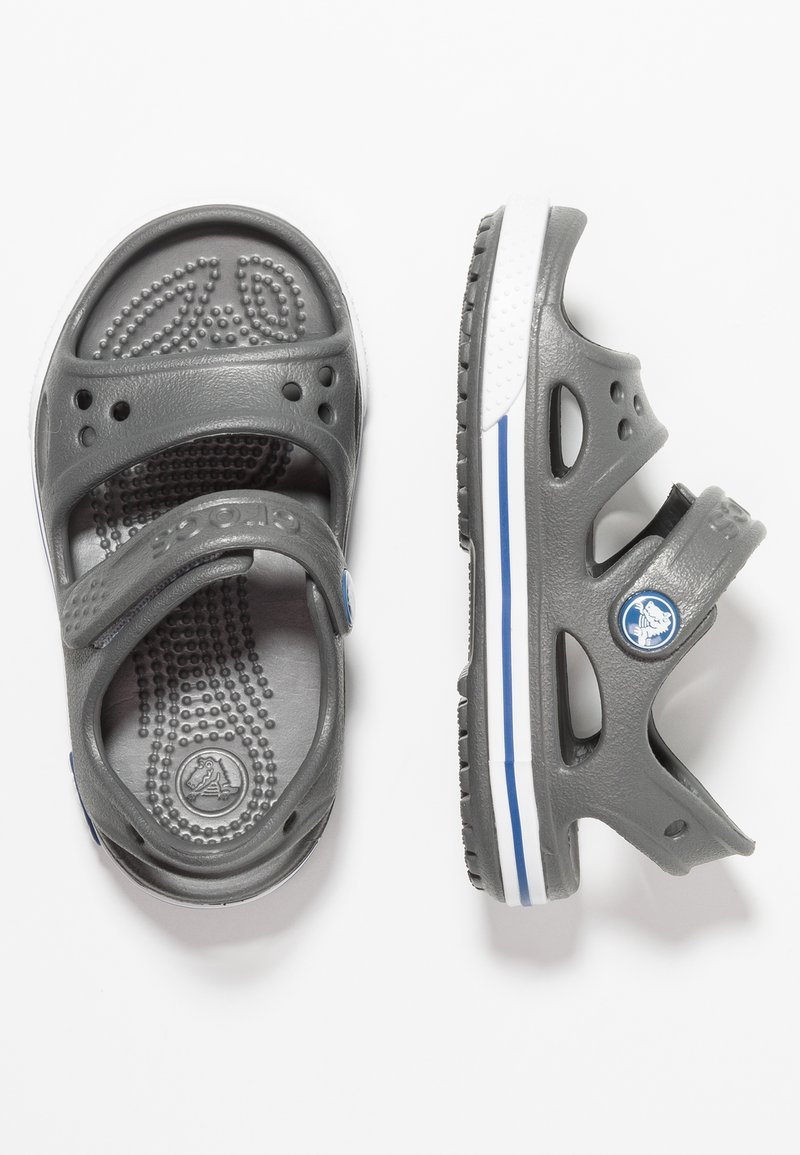 Crocs - CROCBAND RELAXED FIT - Pool slides - slate grey/blue jean