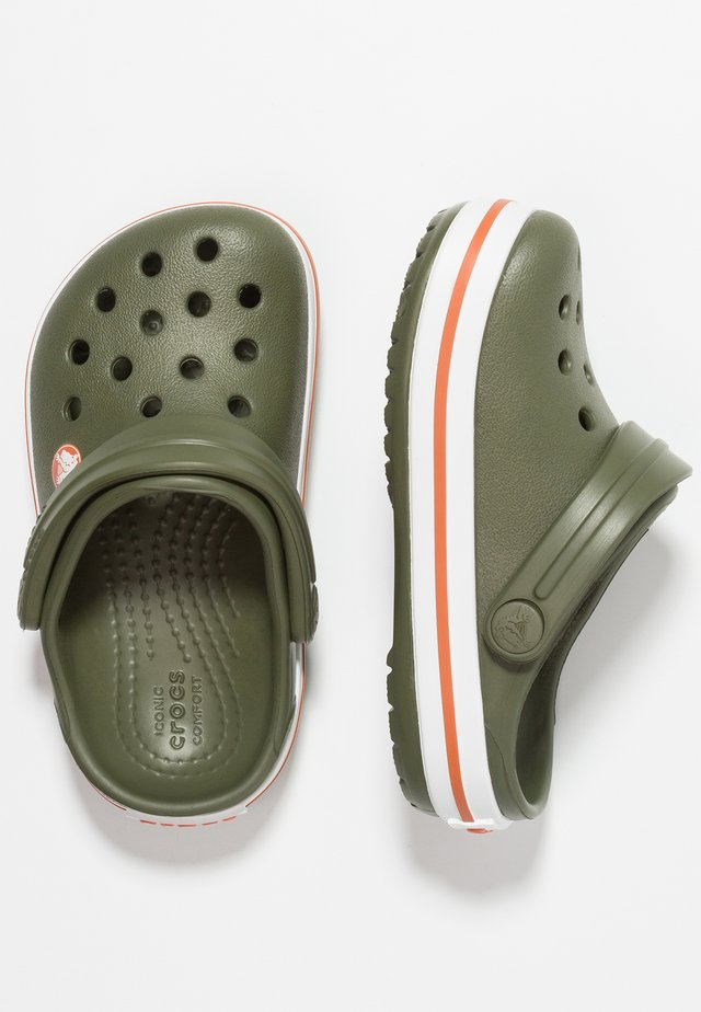 CROCBAND - Chanclas de baño - army green/burnt sienna