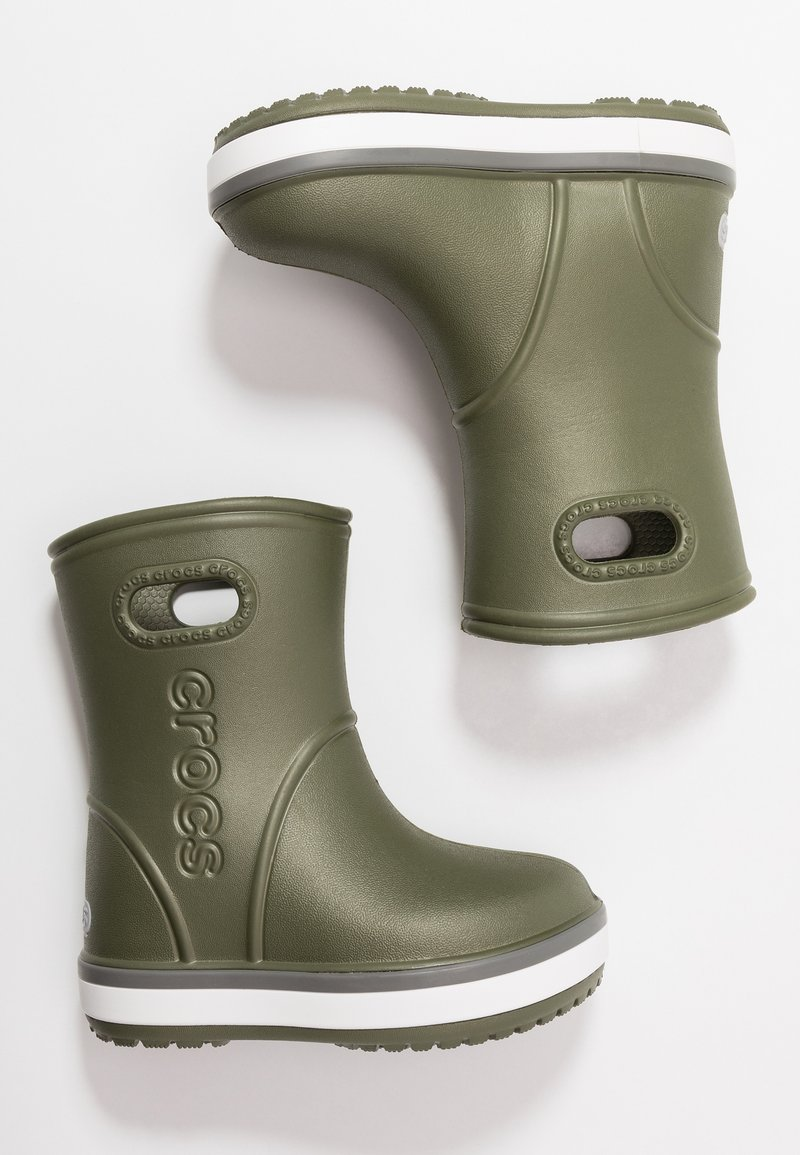 Crocs - CROCBAND RAIN BOOT - Regenlaarzen - army green/slate grey
