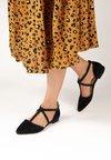 Crickit - KYLIE - Ankle strap ballet pumps - black