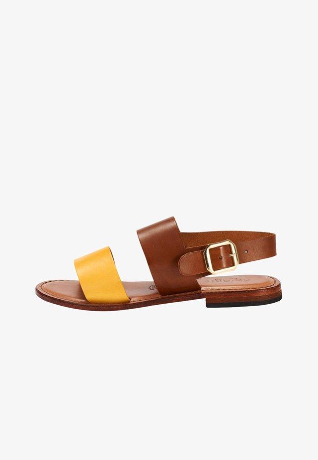 SOFIA - Sandals - cognac mit