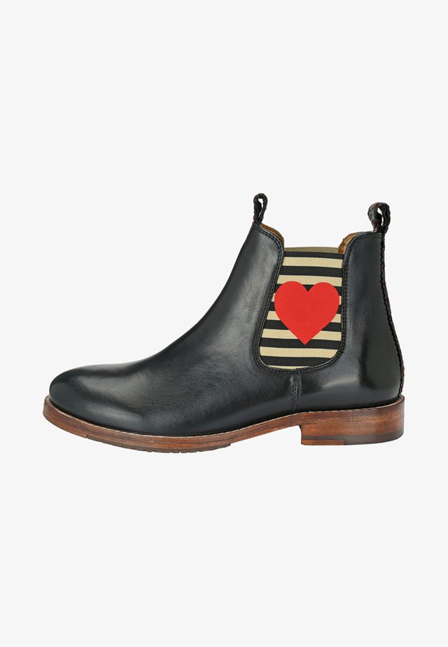 CHELSEA BOOT JULIA MIT HERZ - Classic ankle boots - black