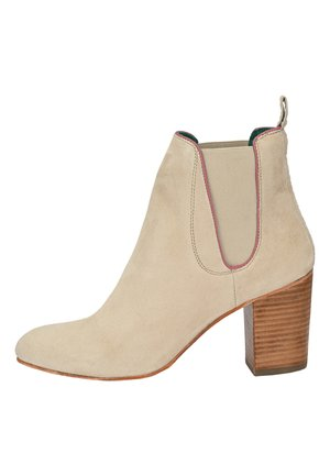 STIEFELETTE ANGELINA - High heeled ankle boots - beige