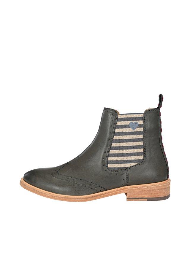 CHELSEA BOOT MIKA MIT STREIFEN UND HERZCHEN - Ankle boots - dunkelgrau