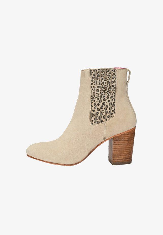 Ankle boots - beige mit leo