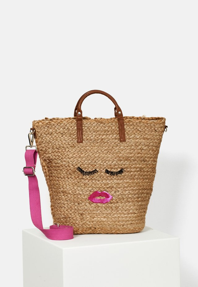 STRANDSHOPPER MALAGA SHOPPER SLEEPING BEAUTY - Tote bag - pink