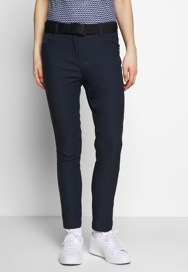 STRETCH PANTS - Tygbyxor - navy