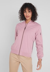 Cross Sportswear - BOMBER JACKET - Impermeabile - old pink - 0