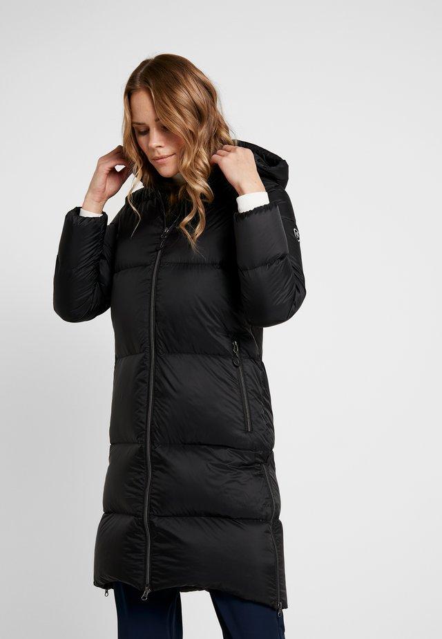 LIGHT COAT - Kabát zprachového peří - black