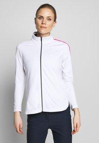 Cross Sportswear - STINGER - Fleecejacka - white - 0