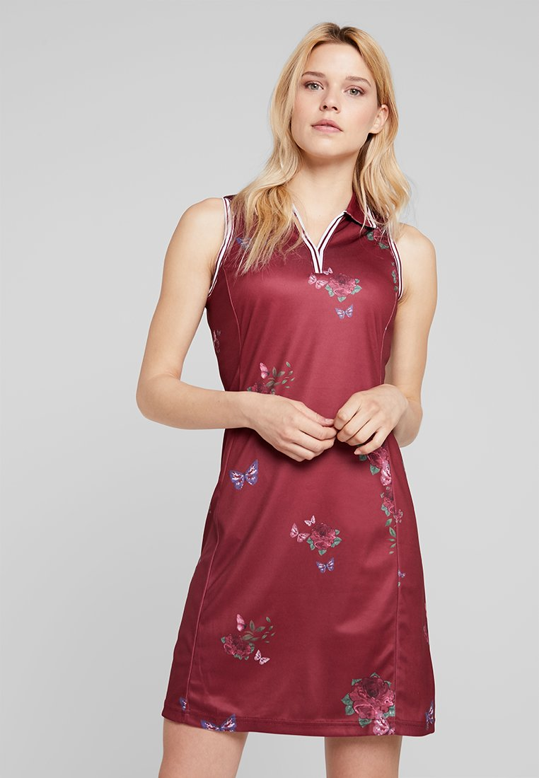 Cross Sportswear - NOSTALGIA DRESS - Jurken - rumba red