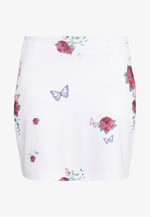 FLOWER SKORT - Gonna sportivo - white