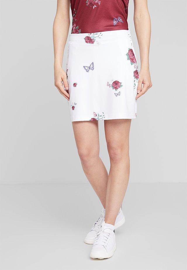 FLOWER SKORT - Sportkjol - white