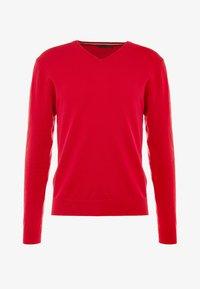 Cross Sportswear - CLASSIC V NECK - Jumper - tango red - 4
