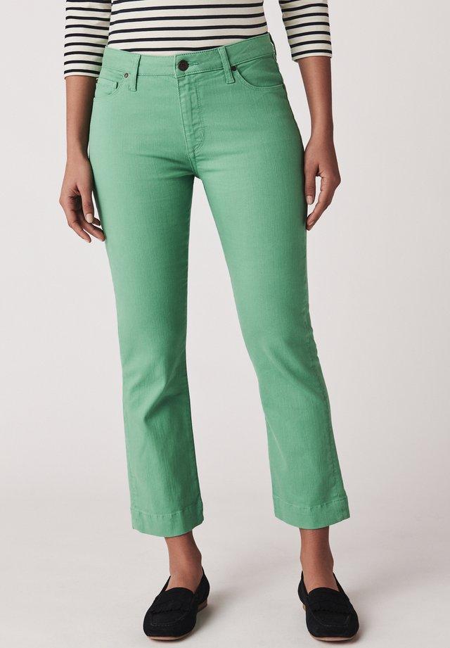 Jean droit - green