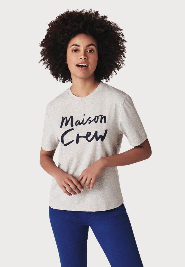 MAISON - T-shirt print - grey