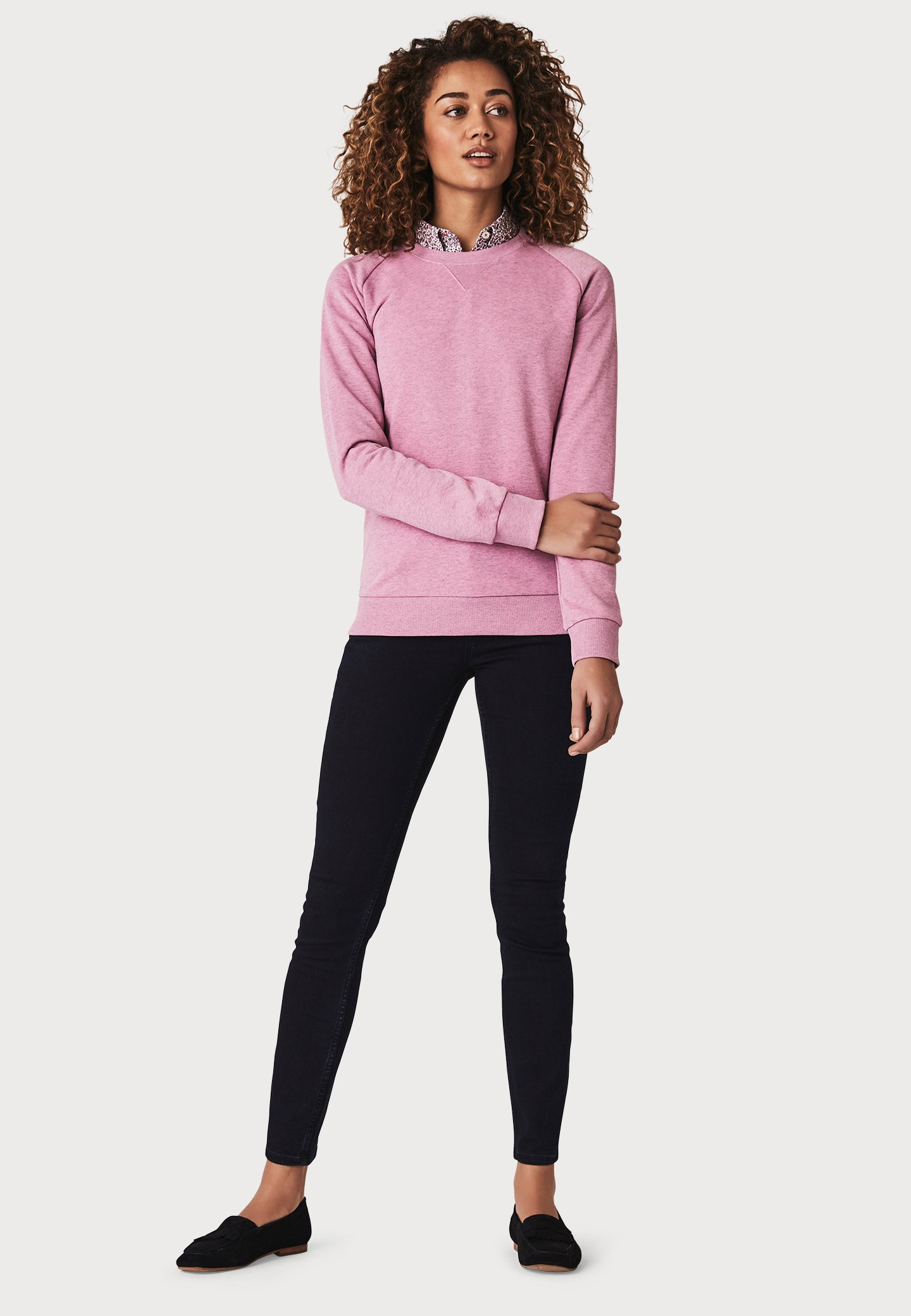 Crew Clothing Company Overdyed - Sweater Pink IrutD6s