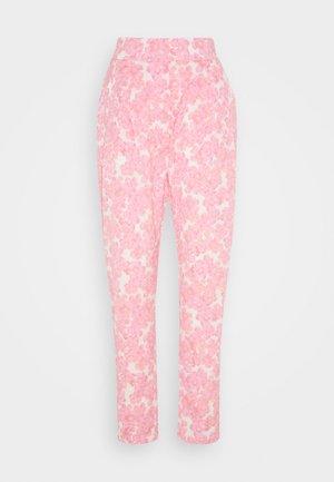 ORLANDO PANTS - Bukser - pink/white