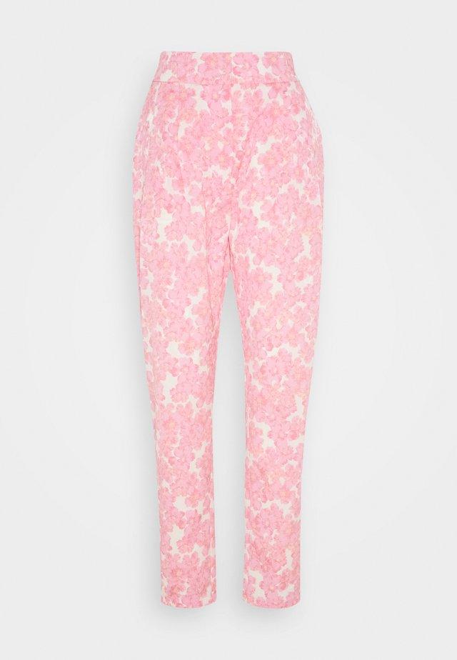 ORLANDO PANTS - Tygbyxor - pink/white