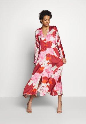ZANZI DRESS - Shirt dress - red/white