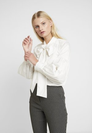 BOW - Button-down blouse - white