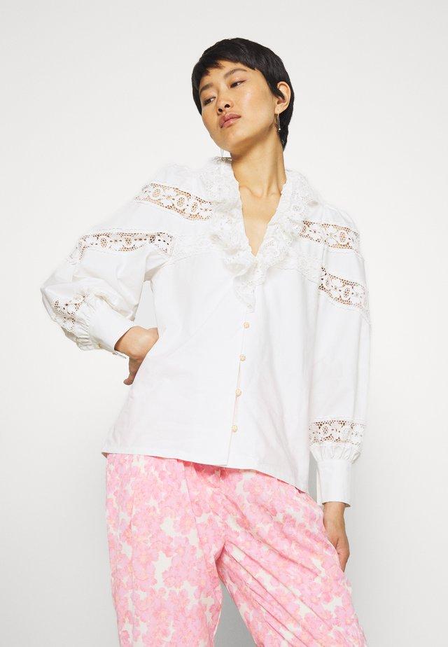 LOUISECRAS - Button-down blouse - white