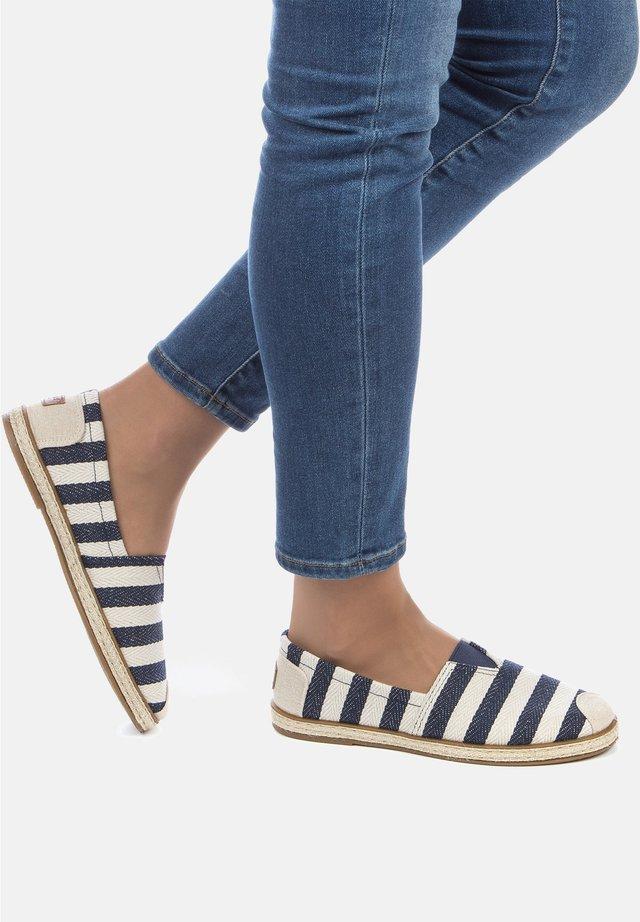 Slippers - weiß/blau