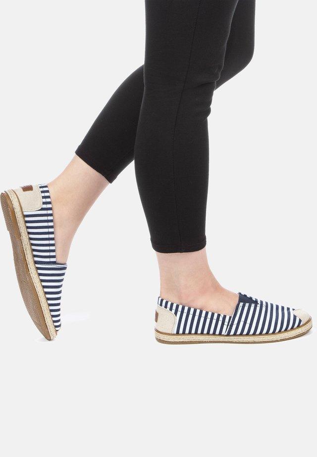 Pantoffels - blau/weiß