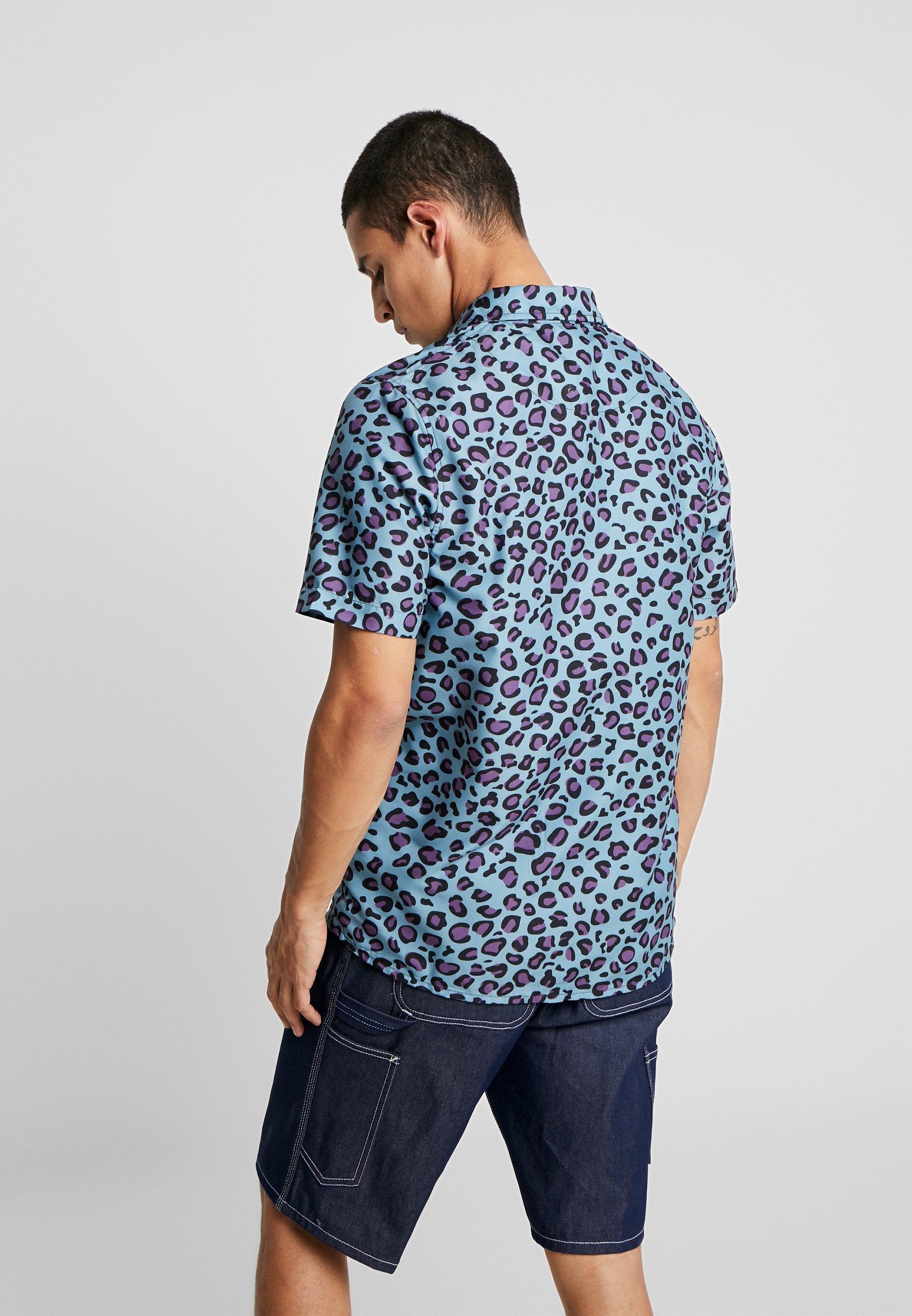 Mint Sons Sleeve Leopard Cayleramp; ShirtChemise Short Fresh BrCWQedxo
