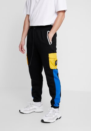 BOX - Pantaloni sportivi - black/yellow