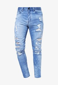 Cayler & Sons - Jeans Tapered Fit - distressed light blue/white - 5