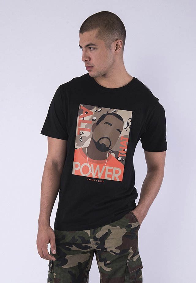 POWER  - T-shirt imprimé - black/mc