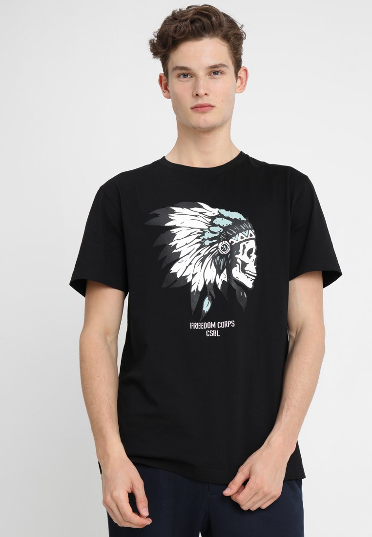 Cayler & Sons - FREEDOM CORPS TEE - T-shirt med print - black