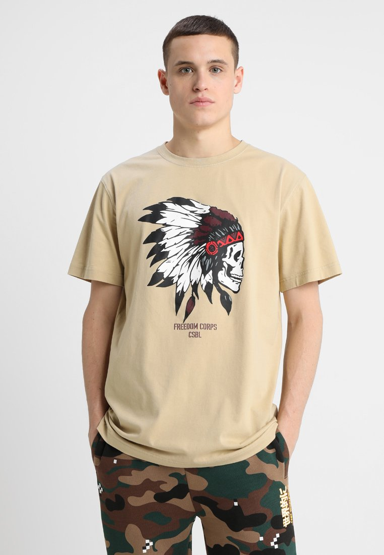 Cayler & Sons - FREEDOM CORPS TEE - T-shirt med print - sand