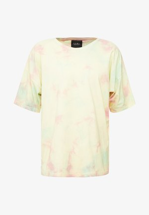 MEANING OF LIFE TIE DYE BOX TEE - T-shirts print - yellow/light pink