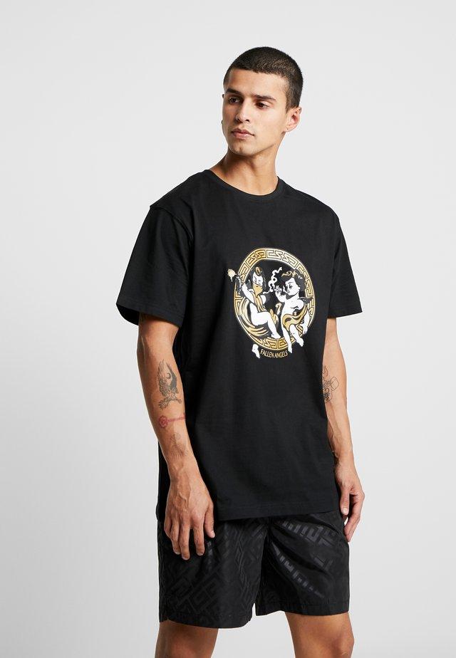 FALLEN ANGELS TEE - T-shirt print - black